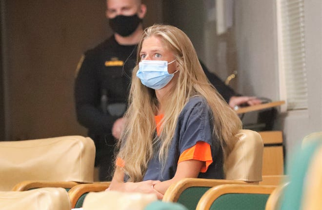 Arson suspect Alexandra Souverneva appears in Shasta County Superior Court on Friday afternoon, Sept. 24, 2021. A public defender was appointed to represent her and she pleaded not guilty to charges of starting the Fawn Fire. Her bail was set at $150,000 plus $25,000 for a related misdemeanor.