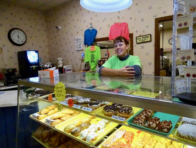 Jessica Everson took the helm at Darrell's Donuts in February. The menu has largely kept the classics, but she's spearheaded the effort to add new gourmet options, like Reese's Pieces doughnuts.
