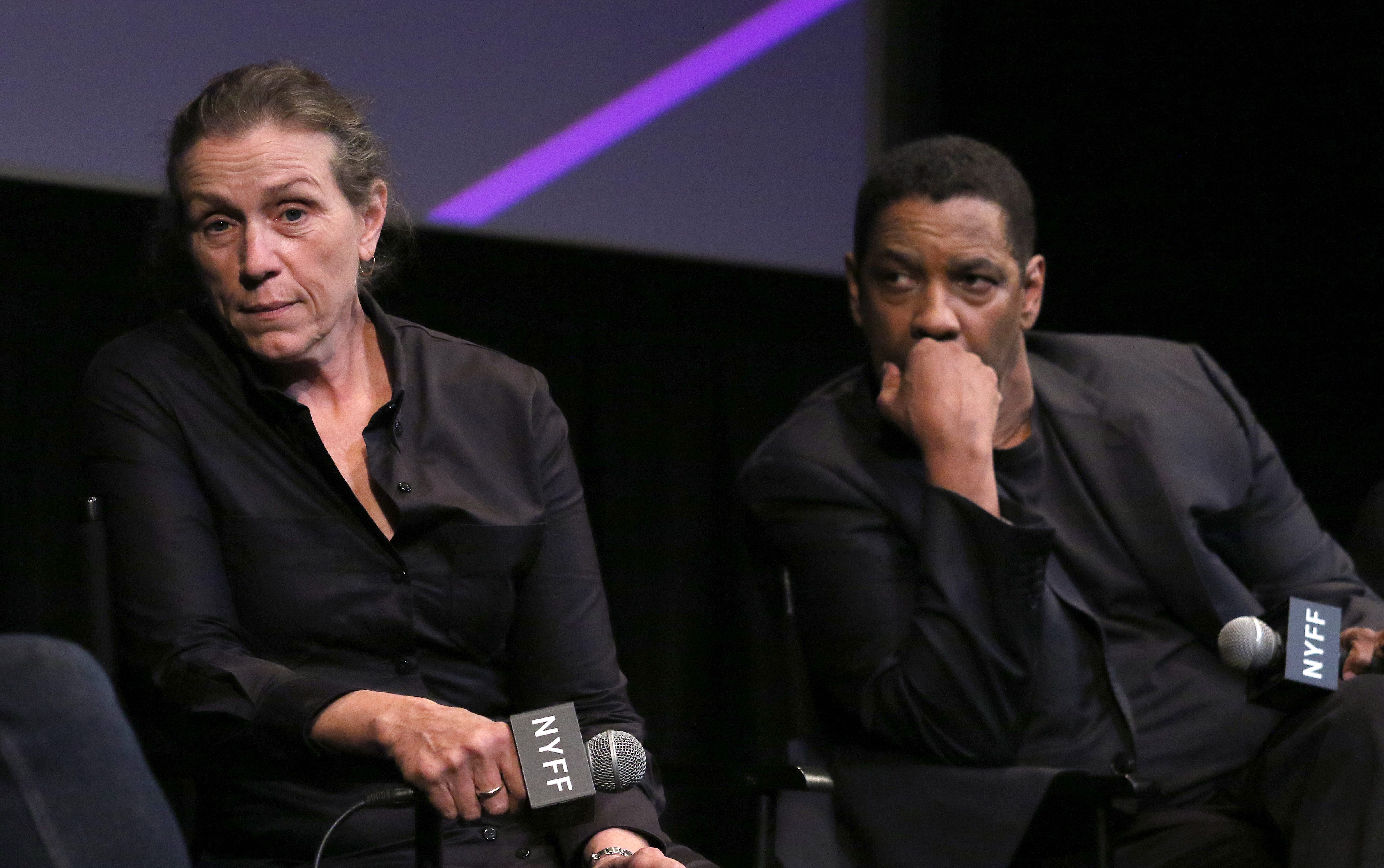 I can t believe we did this : Frances McDormand chokes up with Denzel Washington over  Tragedy of Macbeth