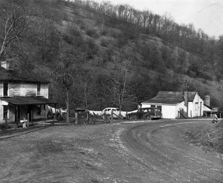 Patty Patton's house on Wolf Run Road in Industry Township taken in 1956.