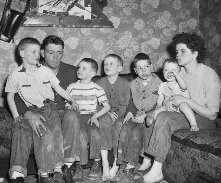 Patty Patton's family, photographed in their home on Wolf Run Road in Industry Township.