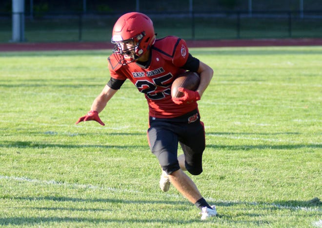Granger Kitson and the Red Devils kept things humming on both sides of the ball Friday night in Oscoda.