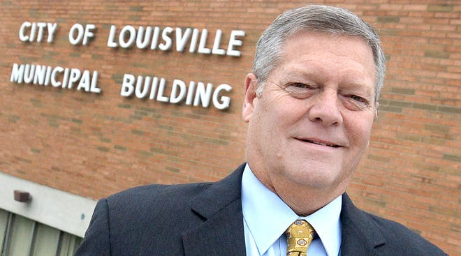 Louisville city manager Larry Collins is shown in this 2018 CantonRep.com file photo.