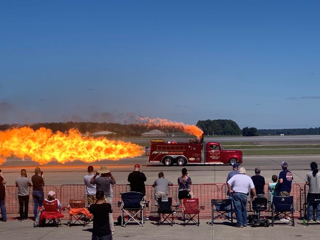 Clear weather is expected for the 2021 Cherry Point Air Show located at the Marine Corps Air Station Cherry Point of Havelock, NC. Gates open at 8 a.m. and the show starts at 10:30 a.m. to 4 p.m.