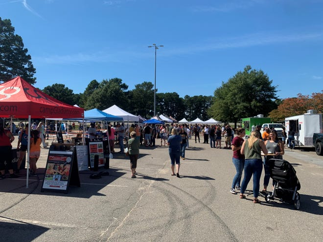 Hundreds of people went to Westwood Shopping Center on Saturday afternoon for the first Fayetteville NC Taco & Beer Festival.