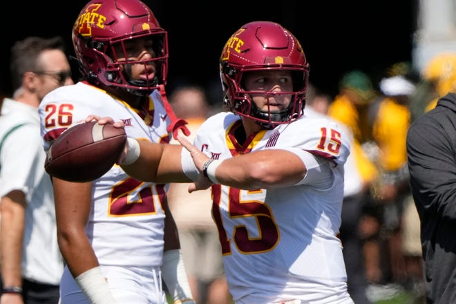 Iowa State quarterback Brock Purdy must be at his best in the next seven games, and that starts Saturday night at Kansas State.