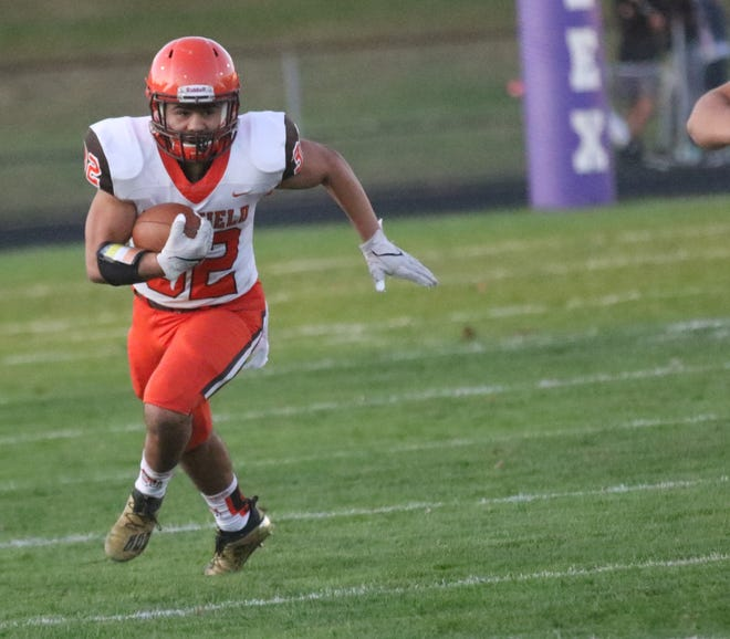 Mansfield Senior's Ricky Mills ran for 53 yards on seven carries with a touchdown and a two-point conversion while also recording 3.5 sacks on defense in a 23-14 win over Lexington.