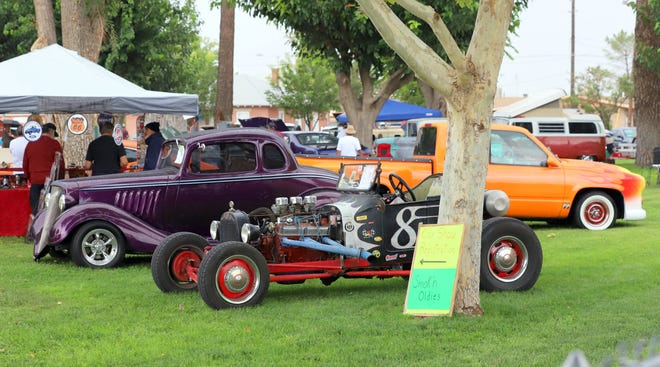 Luna County Courthouse Park became a parking lot for he 23rd annual Smok'n Oldies Classic Car Club Show on Saturday.