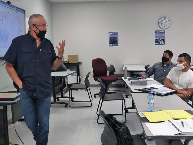 Former Las Cruces Utilities Director Dr. Jorge A. Garcia is back in his element, teaching the historical background for the Las Cruces water system that he's worked on for over 30 years.