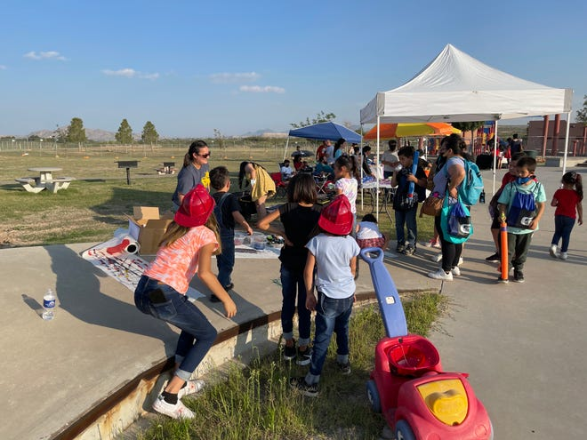 The Family and Friends project team at New Mexico State University's Glass Family Research Institute for Early Childhood Studies participated in the City of Sunland Park's National Night Out in August. At the event, the team hosted an activity that focused on cultural relevance for children attending.