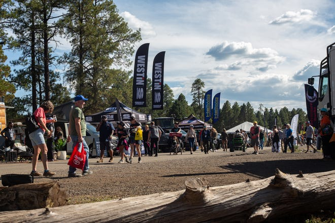 The Overland Expo West includes about 400 vendors of overlanding equipment, vehicles and services, Sept. 24, 2021.