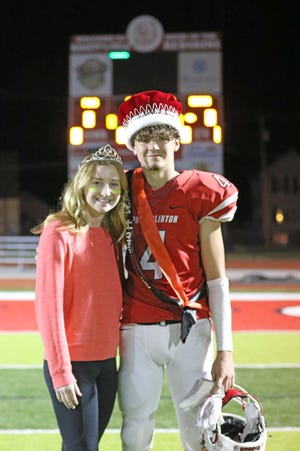 Port Clinton's Marcella Brenner and Josh Hurst were named 2021 homecoming queen and king during Friday night's football game. Port Clinton beat Edison 31-0.