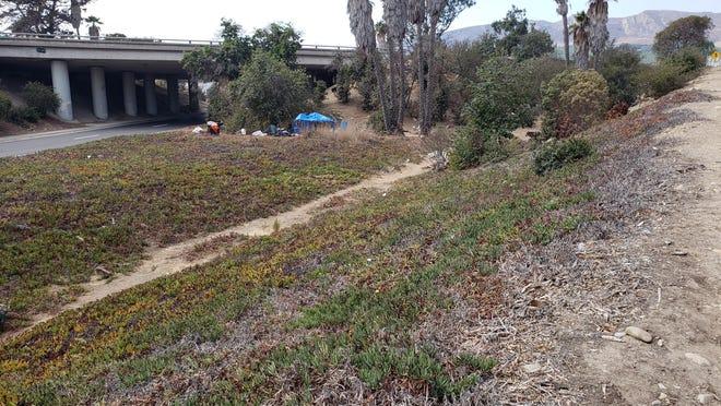 A woman's body was found Friday morning near a Ventura onramp.