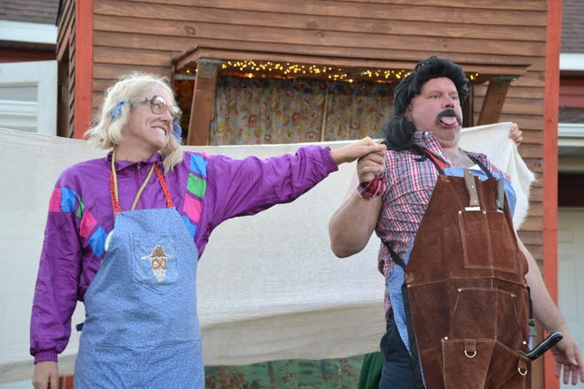 """A scene from Sod House Theater's production of  """"Arla Mae's Booyah Wagon"""" in Crookston"""