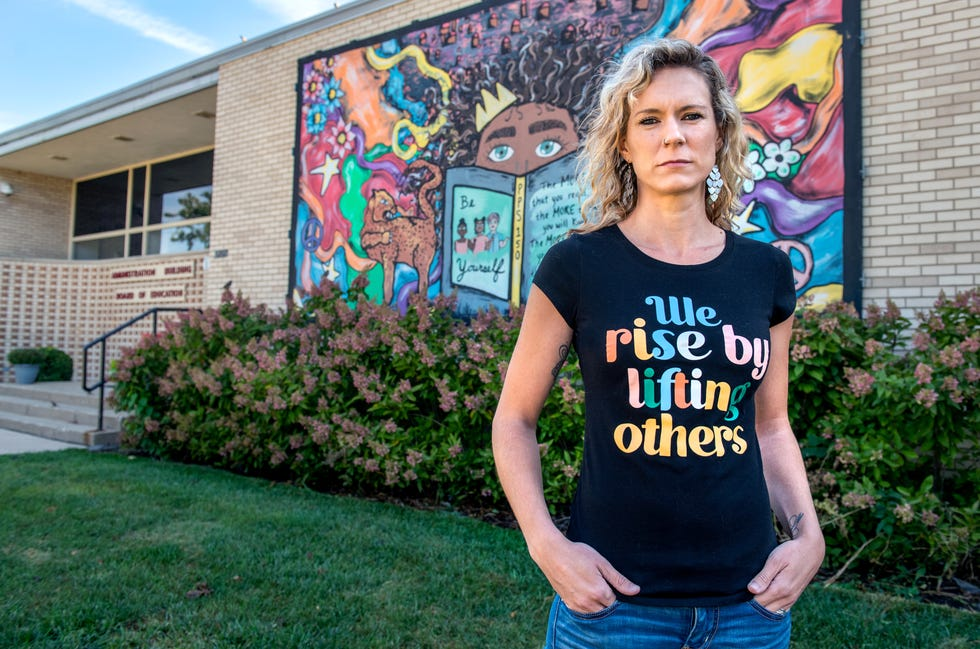 Marbeth Shiell, shown here at the Peoria Public Schools district office on Wisconsin Avenue, abruptly quit her job last Wednesday as a second grade teacher at Franklin Primary School in Peoria. She posted a four-minute video that has since gone viral citing low morale and frustration with district policies she says make it difficult for teachers to do their jobs.