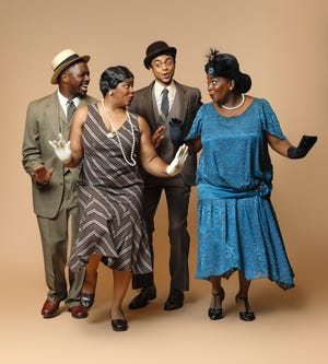 """From left, Brian L. Boyd, Vallea E. Woodbury, Ty-Gabriel Jones and Syreeta S. Banks are among the cast members of """"Eubie!"""" featuring the music of Eubie Blake at Westcoast Black Theatre Troupe."""