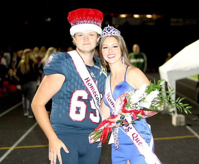 Kolton Parker and Lindley Steele were crowned BNL Homecoming King and Queen Friday evening during the halftime of the BNL-Jennings County game.