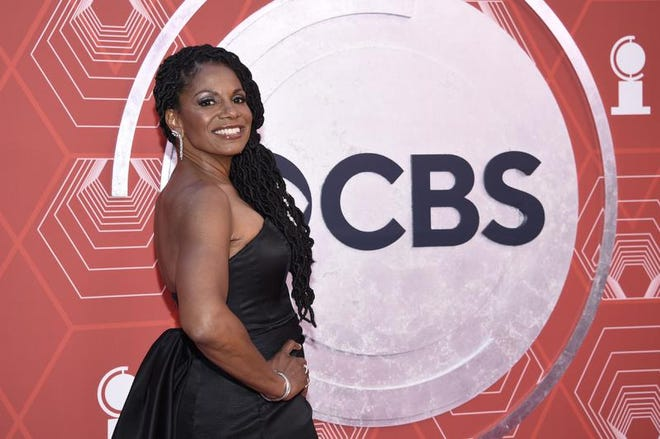 Audra McDonald arrives at the 74th annual Tony Awards at Winter Garden Theatre on Sunday, Sept. 26, 2021, in New York.