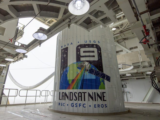 The Landsat 9 satellite launched Monday from the Vandenberg Space Force Base aboard a United Launch Alliance Atlas V rocket. The effort is a joint mission of NASA and the U.S. Geological Survey.