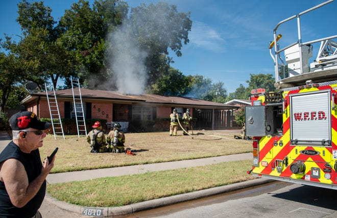 Wichita Falls firefighters worked the scene of a house fire on Alamo Drive Sunday morning.