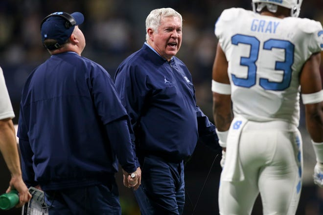 Mack Brown and the Tar Heels lost to Georgia Tech on Saturday.