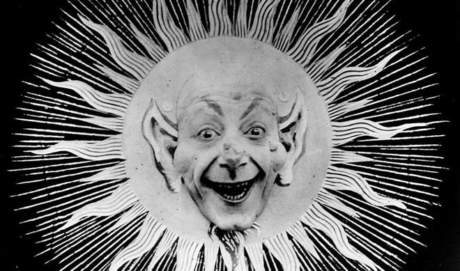 """This still image shows a scene from the 1907 Georges Méliès film """"The Eclipse."""" A 2-hour program of silent films is scheduled to play in the lab at Athens Cine on Sept. 29, 2021."""