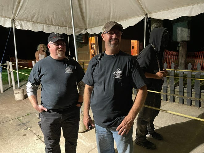 Brothers Devin and Damon Call have been volunteering at the Hudson Haunted House for decades.