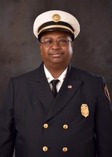 Akron Fire Chief Clarence Tucker