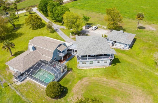 A pond for your horses, a pool for your family and extra apartments for guests or tenants are just a few of the highlights of this six-acre ranch estate that borders Groover Creek.