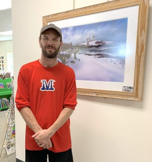 Photographs of the Seacoast by Corey Cain of York are currently on display on the walls of the Berwick Public Library.
