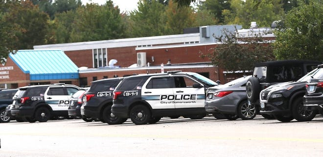 There was a large police presence and lockdown at Somersworth High School Monday morning, on Sept. 27, 2021.