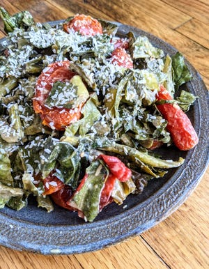 Miso Tasty Collards and Tomatoes