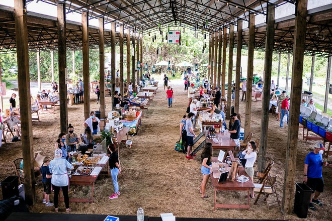 A view of Swank Farmers' Market from the 2020 season. The market reopened Saturday, Oct. 2, in Loxahatchee Groves.