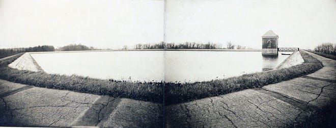 In a view from 1913, the Fruit Hill Reservoir in North Providence.