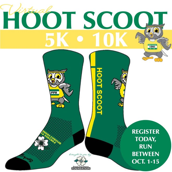 Registration for the Portage Park District Foundation's Virtual Hoot Scoot is open now.