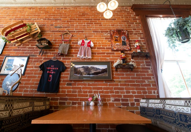 Inside Moser's Austrian Cafe on Friday, Sept. 24, 2021, in New Carlisle.