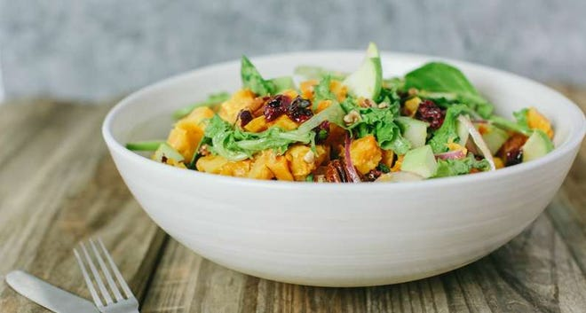 Fall Harvest Salad with Dijon Vinaigrette