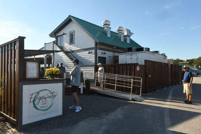 Edgewater 122 is a new restaurant near Provision Co. at 122 Yacht Basin Drive, Southport.