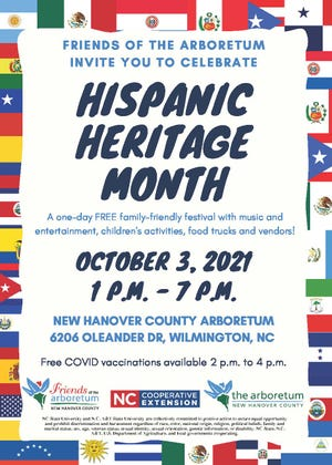 The Friends of the Arboretum will host the Hispanic Heritage Month on Oct. 3 at the New Hanover County Arboretum.