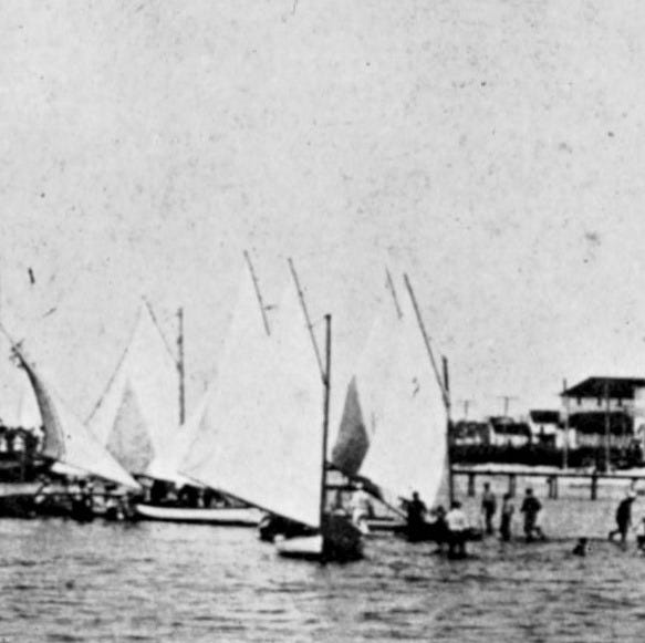 Salboats on Banks Channel in the 1890s.