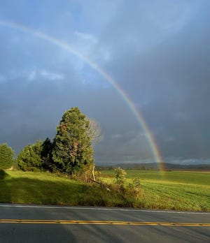This photo taken by Jeff Snyder of New Centerville shows a rainbow after a recent storm.