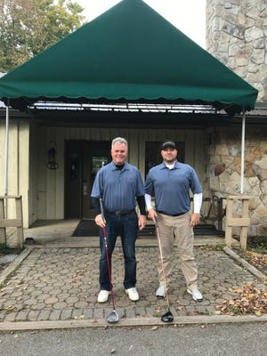 The 2021 Northwinds Peninsula Thursday Night League champions are Don Gibson, left, and Ron Walko, right.