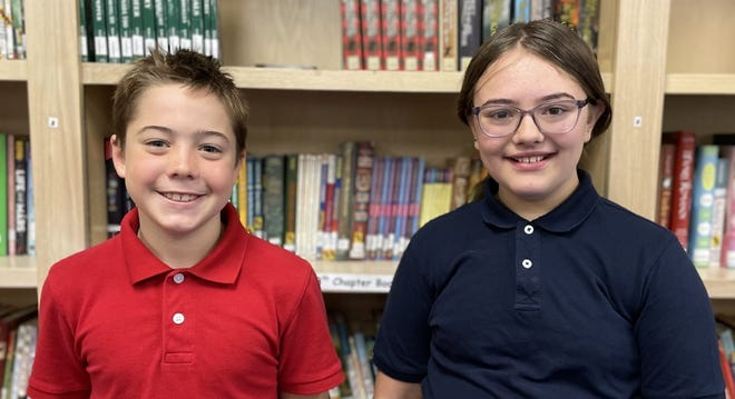 Owen Camblin (left) and Natallie Cox (right) are heading to the Sumner County Spelling Bee