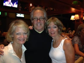 Greg O'Brien with sisters Maureen, right, and Lauren at a recent gathering at Ocean Edge in Brewster.