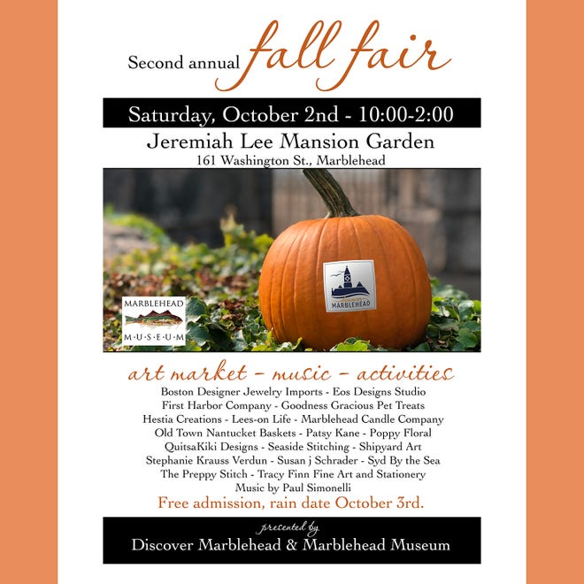 Mark your calendar  for Marblehead's 2nd Annual Fall Fair