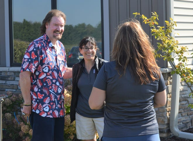 Baseball Hall of Famer Wade Boggs poses for a photo while at Stoatin Brae Golf Club, just outside of Battle Creek, as part of a Big Brothers Big Sisters Benefit on Monday.