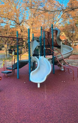 A bounce-back surface was added to the playground beside Lake Tomahawk as part of Noah Lewkowicz's project.