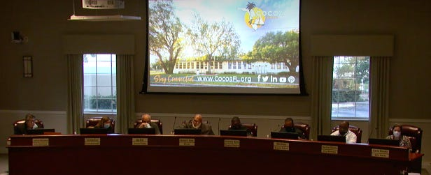 Cocoa City Council discusses millage rates and budget at a Sept. 14 budget meeting.