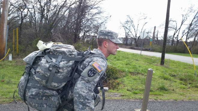 Hardin County Sheriff's deputy Matthew Locke is seen here competing in the 2014 statewide NCO (Non-commissioned officer) of the Year competition.
