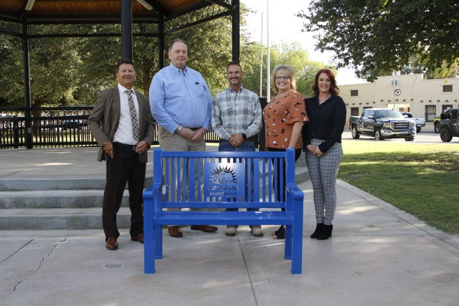 Carlsbad MainStreet's rejuvenation project includes the replacement of current benches in the MainStreet District with the financial support of XTO Energy.